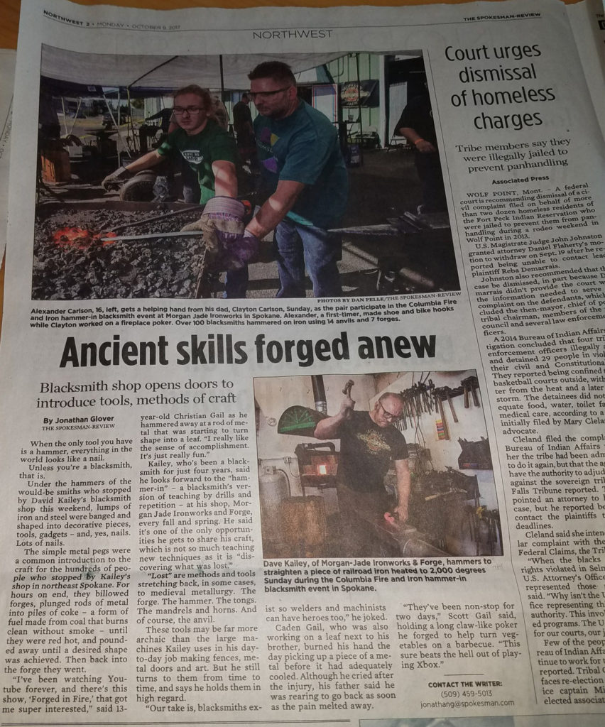 CFI Fall Hammer-In in the Spokesman Review